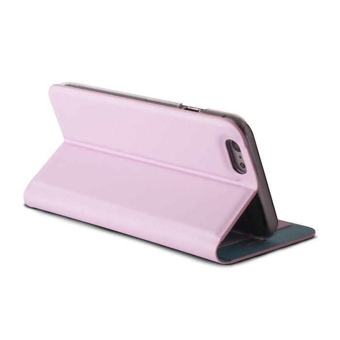 Beeyo Book Fusion Lompakkomallinen suojakotelo Apple iPhone 5 / 5S Pinkki