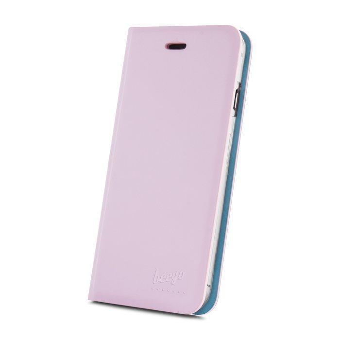 Beeyo Book Fusion Lompakkomallinen suojakotelo Apple iPhone 6 / 6S Pinkki
