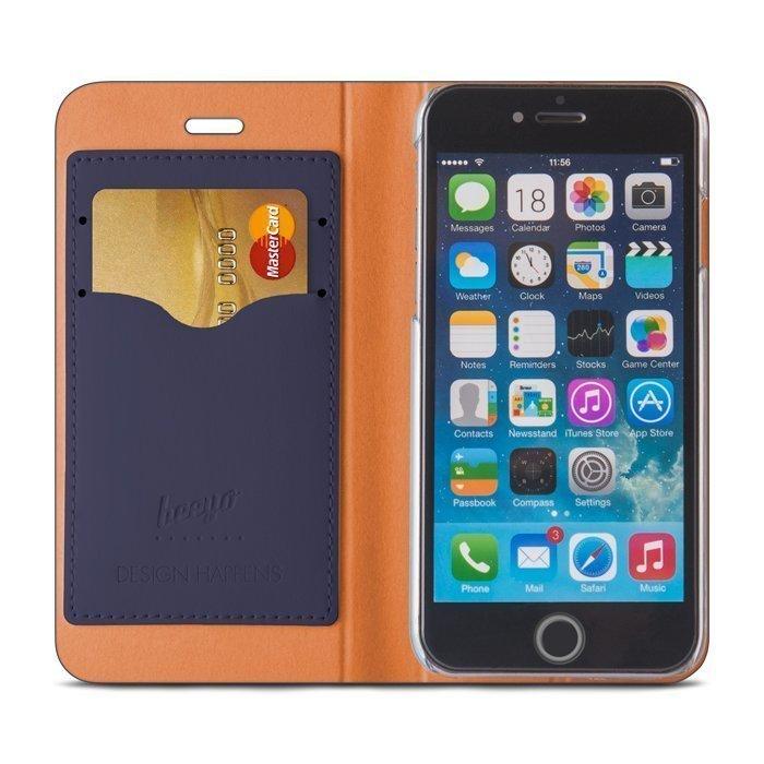 Beeyo Book Fusion Lompakkomallinen suojakotelo Apple iPhone 6 / 6S Sininen