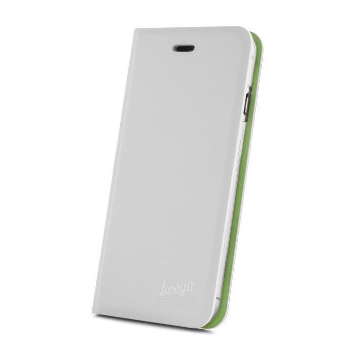 Beeyo Book Fusion Lompakkomallinen suojakotelo Samsung Galaxy Core Prime Valkoinen