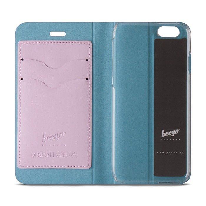 Beeyo Book Fusion Lompakkomallinen suojakotelo Samsung Galaxy J5 Pinkki