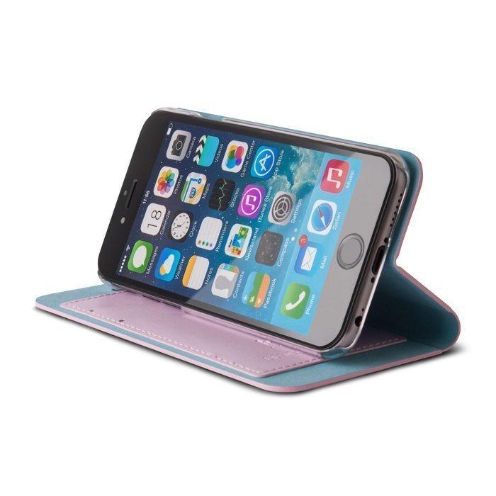 Beeyo Book Fusion Lompakkomallinen suojakotelo Samsung Galaxy S4 Pinkki