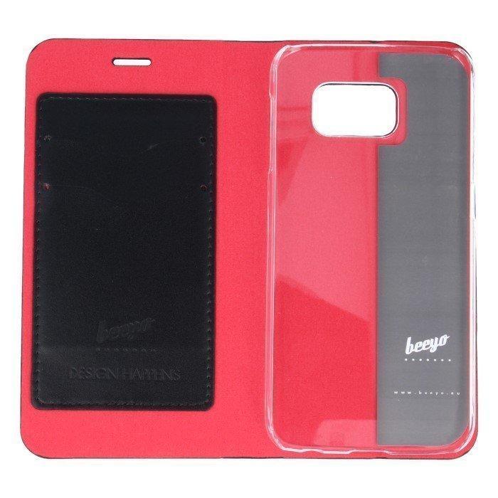 Beeyo Book Fusion Lompakkomallinen suojakotelo Samsung Galaxy S6 Musta