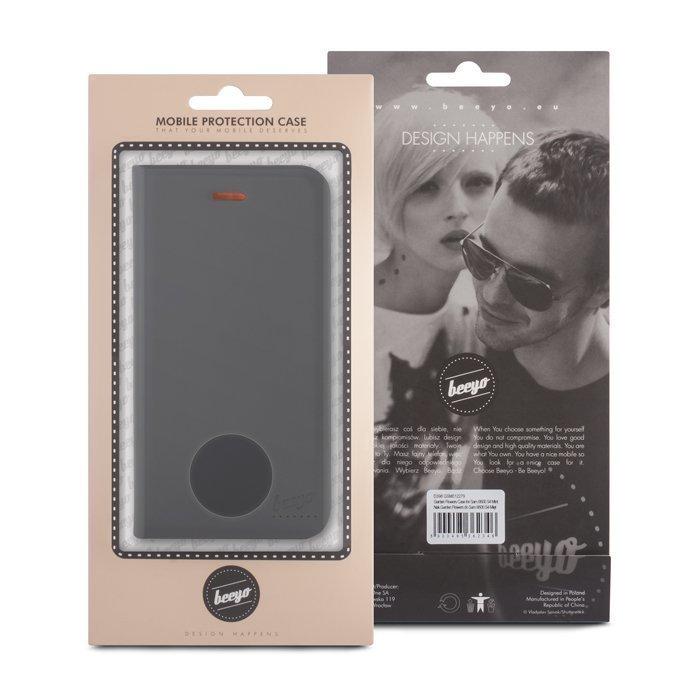 Beeyo Book Fusion Lompakkomallinen suojakotelo Samsung Xcover 3 Musta