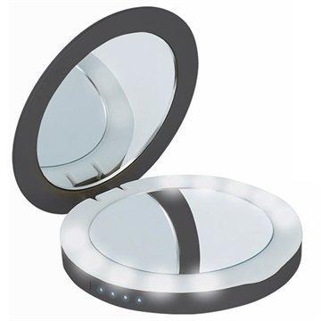 Beeyo Compact Mirror Power Bank 3000mAh Black
