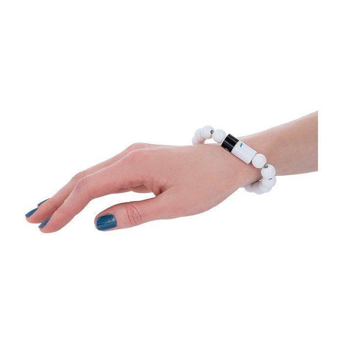 Beeyo Rannekoru Micro USB kaapeli valkoinen