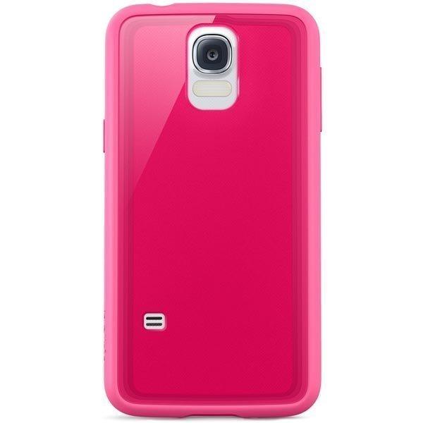 Belkin Grip Vue muovikuori Galaxy S5 läpinäkyvä vaal.pun