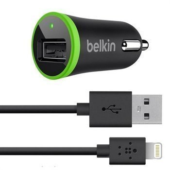 Belkin Lightning Autolaturi iPhone 6S Plus iPhone 6 / 6S iPad Pro Musta / Vihreä