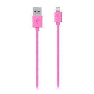 Belkin Lightning / USB ChargeSync Lataus- ja Synkronointikaapeli Pinkki