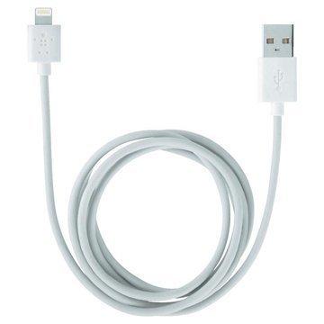 Belkin Lightning / USB Lataus -ja Synkronointikaapeli Valkoinen 2 M