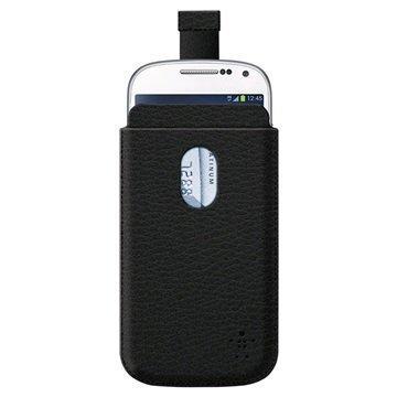 Belkin Pocket Kotelo Samsung Galaxy S4 mini I9190 I9192 I9195 Musta