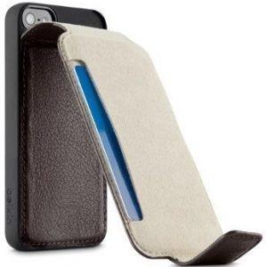 Belkin Snap Flip Wallet for iPhone 5 Dark Brown