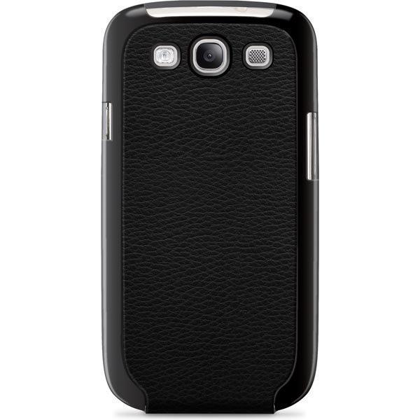 Belkin Snap Folio muovi/ tekonahkakuori Galaxy S III malliin musta