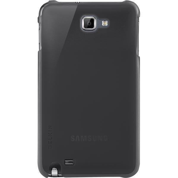 Belkin lämpömuovikuori Galaxy Note malliin musta sävytetty/läpinäkyvä