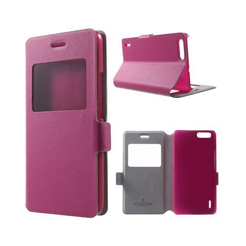 Bellman Huawei Honor 6 Plus Suojakotelo Aitoa Nahkaa Kuuma Pinkki