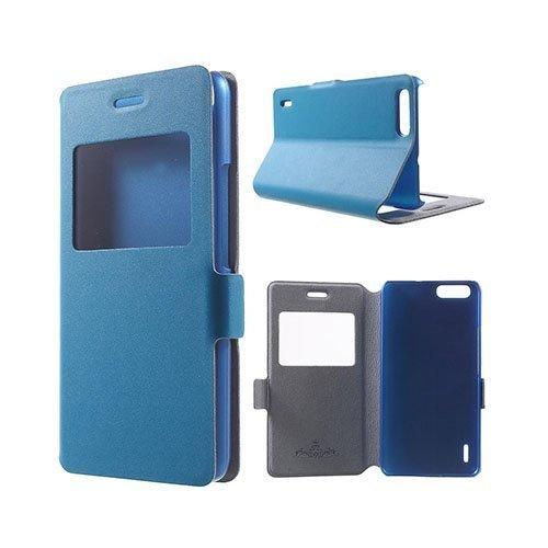 Bellman Huawei Honor 6 Plus Suojakotelo Aitoa Nahkaa Sininen
