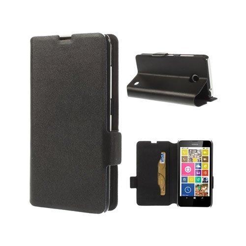 Bellman Musta Nokia Lumia 630 / 635 Nahkakotelo