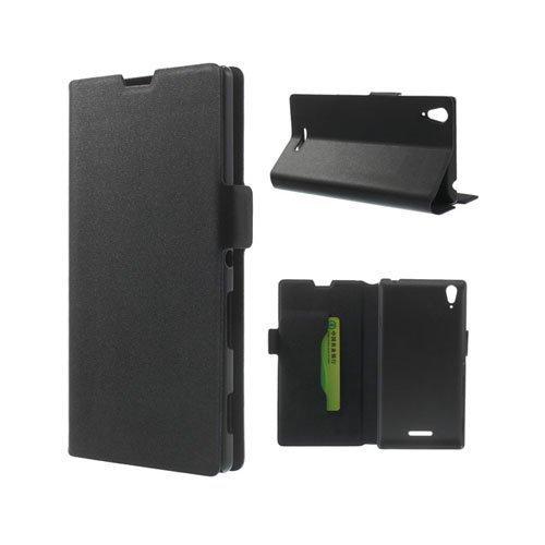 Bellman Musta Sony Xperia T3 Genuine Nahkakotelo