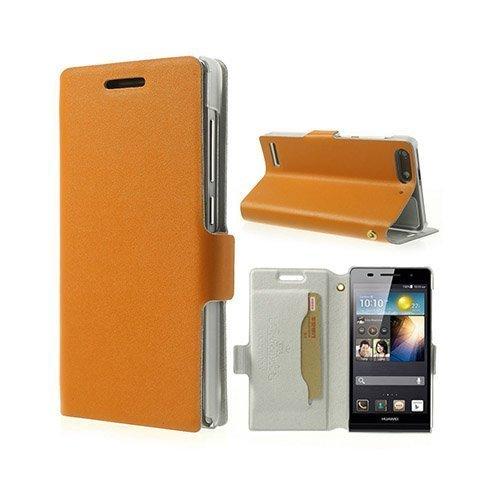 Bellman Oranssi Huawei Ascend G6 Aito Nahkakotelo