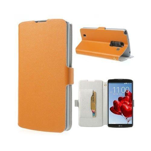 Bellman Oranssi Lg Optimus G Pro 2 Aito Nahkakotelo