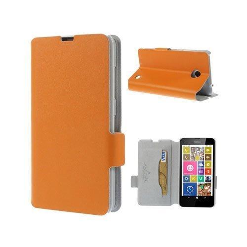 Bellman Oranssi Nokia Lumia 630 / 635 Nahkakotelo