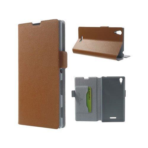 Bellman Ruskea Sony Xperia T3 Genuine Nahkakotelo