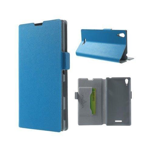 Bellman Sininen Sony Xperia T3 Genuine Nahkakotelo