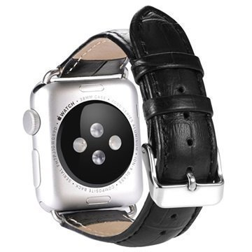 Benks Nahkainen Ranneke Apple Watch 38mm Musta