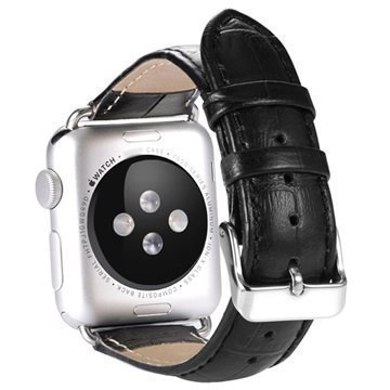 Benks Nahkainen Ranneke Apple Watch 42mm Musta
