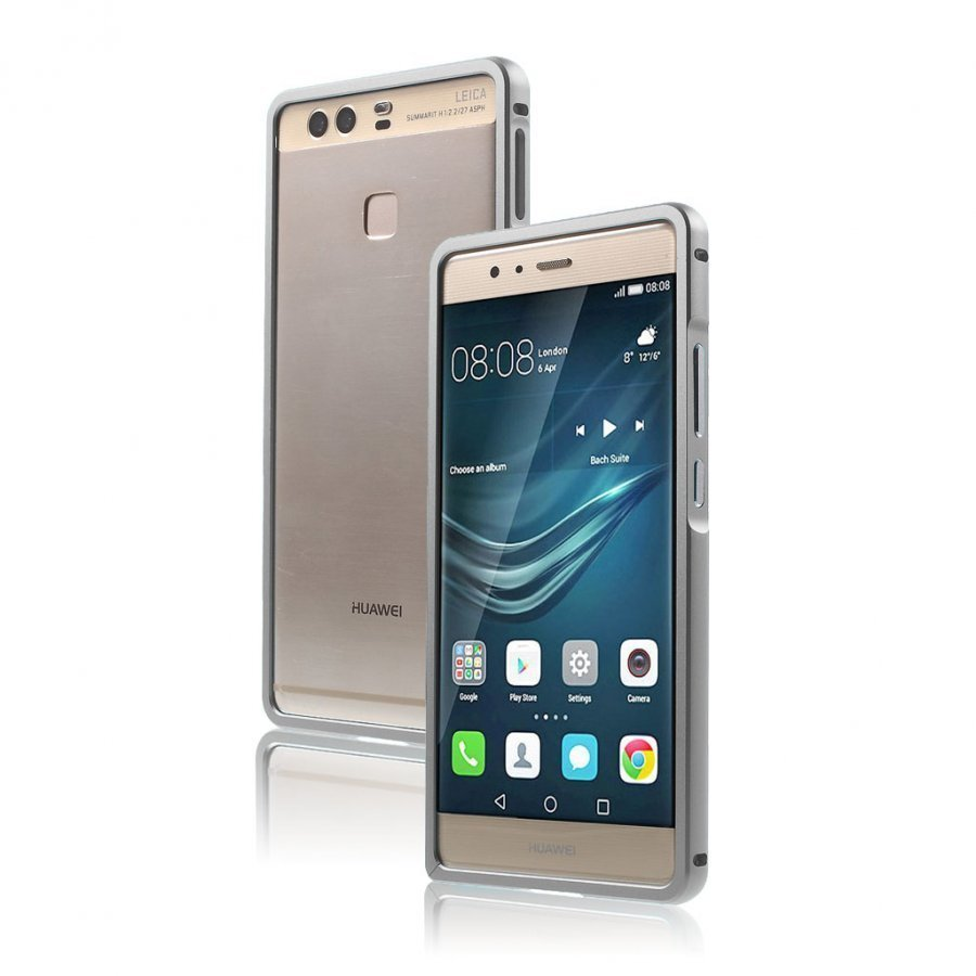 Bergman Alumiini Seos Suojus Huawei P9 Puhelimelle Harmaa