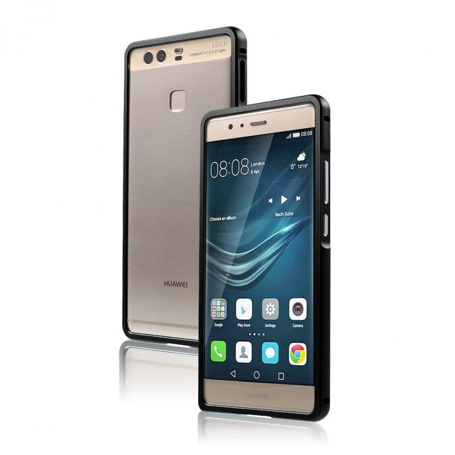 Bergman Alumiini Seos Suojus Huawei P9 Puhelimelle Musta