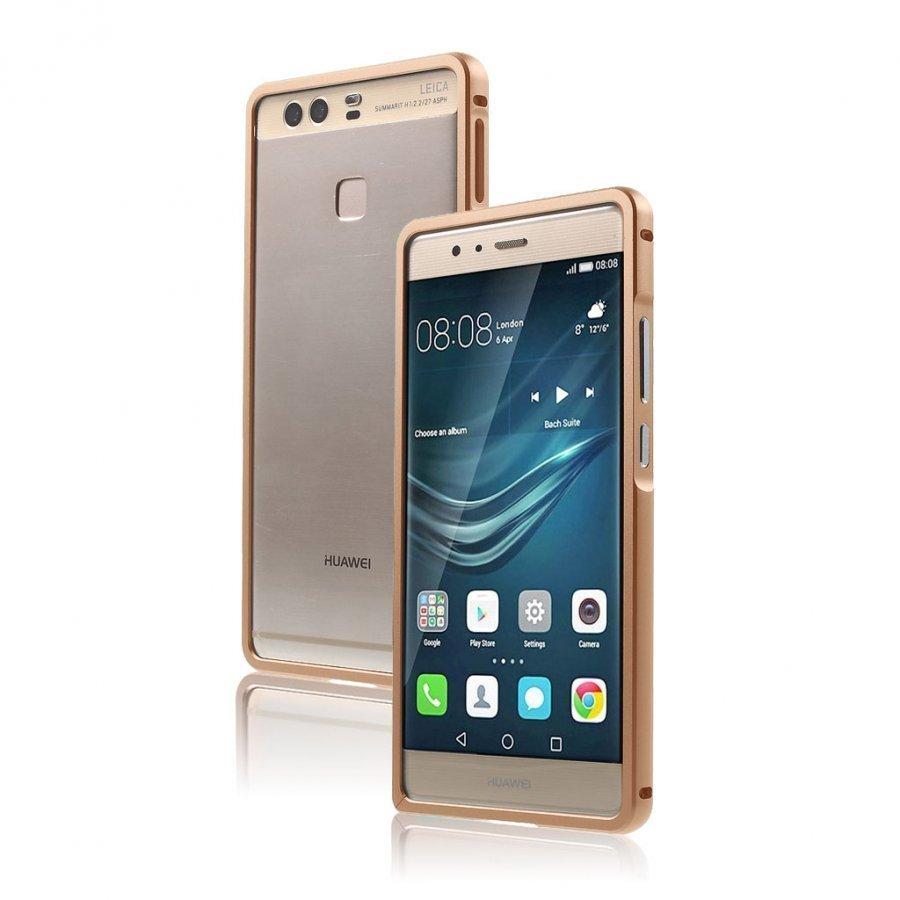 Bergman Alumiini Seos Suojus Huawei P9 Puhelimelle Rosee Kulta