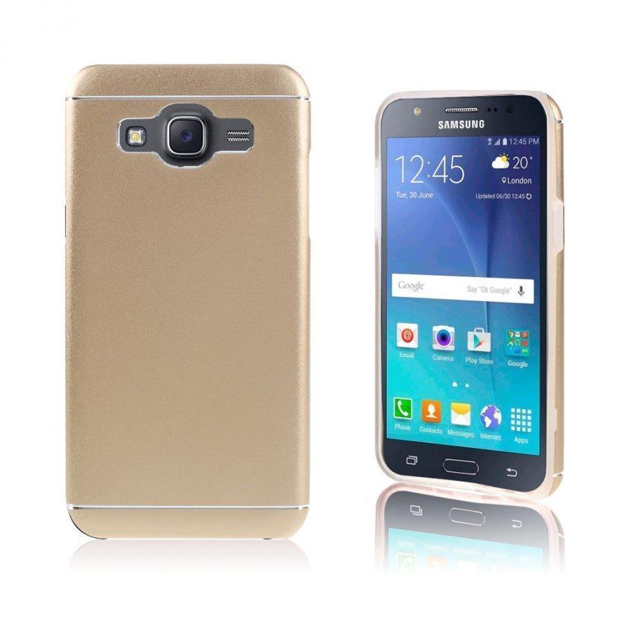 Bergman Tpu Alumiini Seos Kuori Samsung Galaxy J5 Puhelimelle Champagne