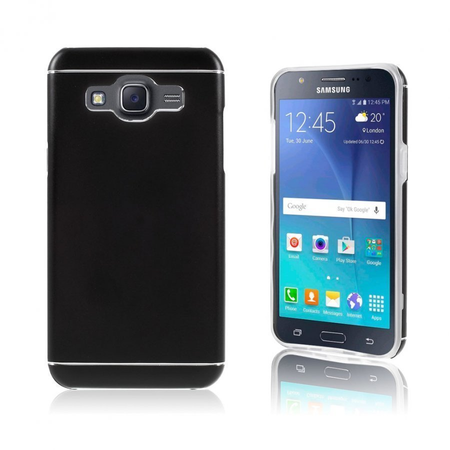 Bergman Tpu Alumiini Seos Kuori Samsung Galaxy J5 Puhelimelle Musta