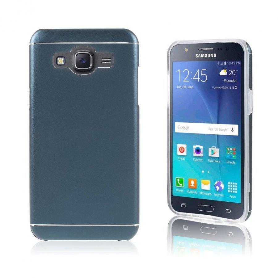 Bergman Tpu Alumiini Seos Kuori Samsung Galaxy J5 Puhelimelle Sininen