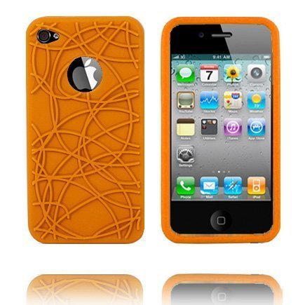 Beta Curve Oranssi Iphone 4 Silikonikuori