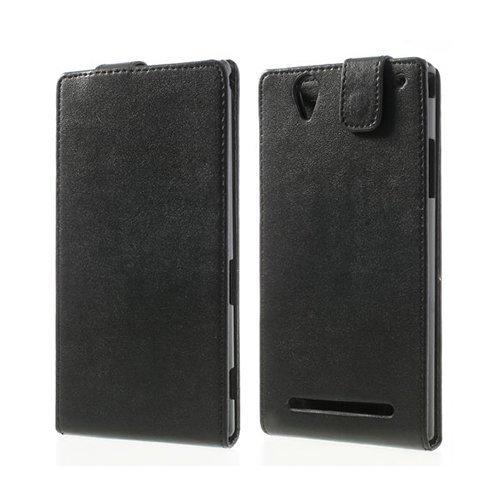 Beta Musta Sony Xperia T2 Ultra Nahkakotelo