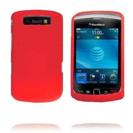 Beta Shell Punainen Blackberry Torch 9800 Silikonikuori