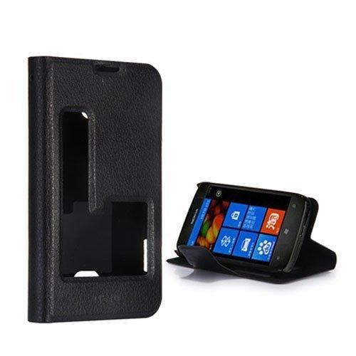 Betha Musta Nokia Lumia 510 Nahkakotelo