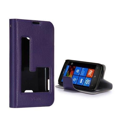 Betha Violetti Nokia Lumia 510 Nahkakotelo
