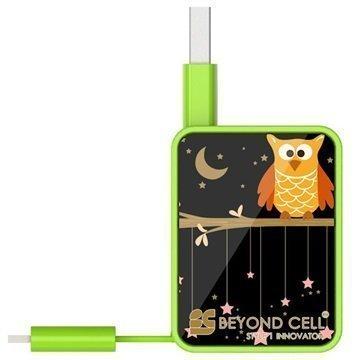 Beyond Cell Suurinopeuksinen 2-in-1 Sisäänvedettävä USB 2.0 / MicroUSB Kaapeli Twinkle Stars