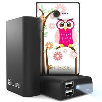 Beyond Cell Universal Dual USB Power Bank Daisy Owl / Black