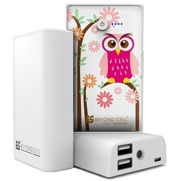 Beyond Cell Universal Dual USB Power Bank Daisy Owl / White
