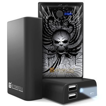 Beyond Cell Universal Dual USB Power Bank Wing Skull / Black