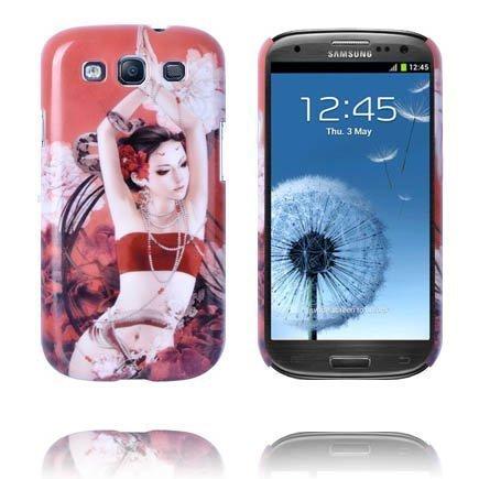 Big In Japan Tyttö Punainen Taivas Samsung Galaxy S3 Suojakuori