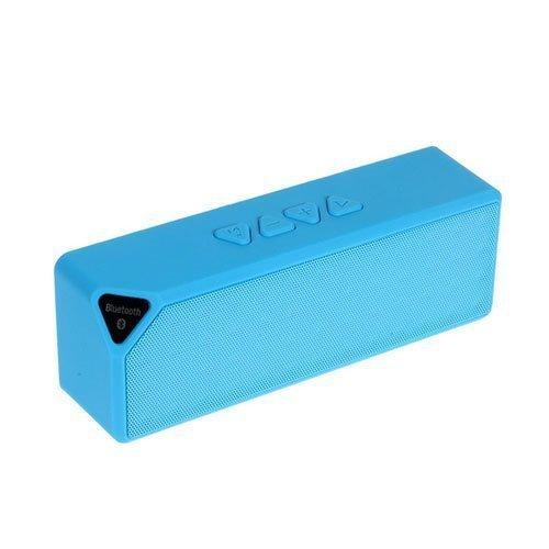Big-X3 Bluetooth Kaiutin Led Valoilla Ja Handsfree Toiminnolla Sininen