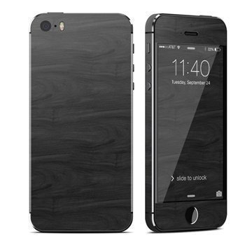 Black Woodgrain iPhone 5S iPhone SE