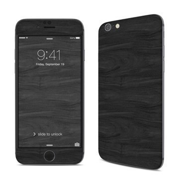 Black Woodgrain iPhone 6 / 6S Skin
