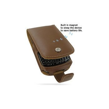 BlackBerry 9700 Bold PDair Leather Case 3TBB97F41 Ruskea
