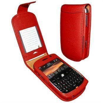 BlackBerry Bold 9000 Piel Frama Classic Nahkakotelo Punainen